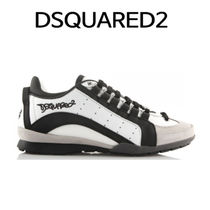 D SQUARED2 ★ SN434 715 M084 VELOUR SNEAKERS WHITE BLACK