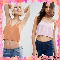 ASOS(エイソス) タンクトップ 【国内発ASOS 送料込】 The Ultimate Crop Cami With Caging Det