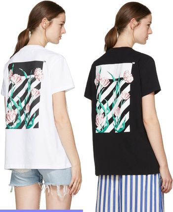 17SS☆Off-White☆Diagonal Tulips Tシャツ 2色展開