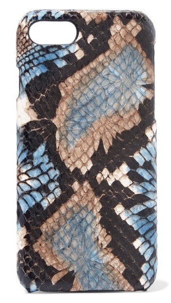 ★iPhone 7★THE CASE FACTORY★PYTHON-EFFECT LEATHER CASE
