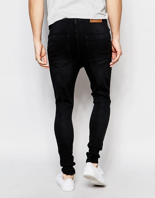 【送関込】SikSilk Drop Crotch Skinny Jeans/Distressing