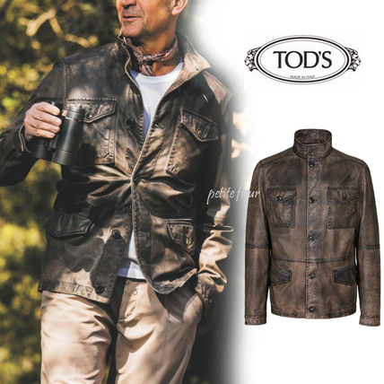 TOD'S * 2017 SS * magazines published * leather field jacket