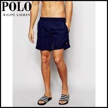 【Ralph Lauren(ラルフローレン)】 Hawaiian Swim Shorts Navy