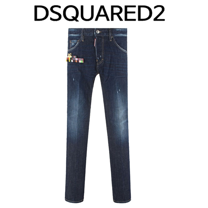 D SQUARED2 ★ GOLD PIN LOGO COOL GUY FIT JEANS
