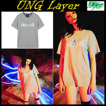 UNG layer(ユーエヌジーレイヤー) Tシャツ・カットソー 無料配送★UNG Layer★FX4 UNG LOGO_T-GRAY