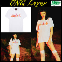 UNG layer(ユーエヌジーレイヤー) Tシャツ・カットソー 無料配送★UNG Layer★FX4 UNG LOGO_T-WHITE