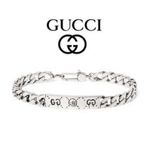GUCCI(グッチ) ブレスレット 国内発送 GUCCI グッチ Ghost Sterling Silver ID ブレスレット