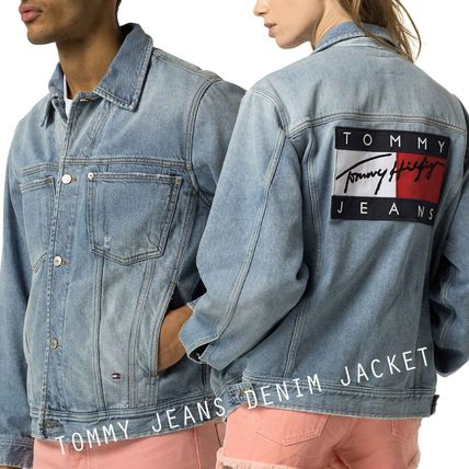 TOMMY JEANS DENIM JACKET トミージーンズ ビッグロゴ  '90