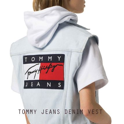 TOMMY JEANS DENIM VEST トミージーンズ ビッグロゴ ベスト '90
