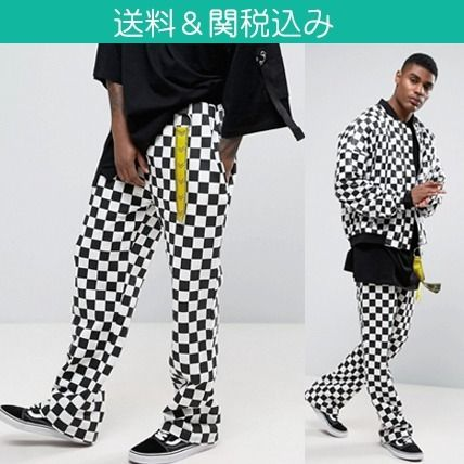 * Granted * Checker pattern is stylish Jogger pants
