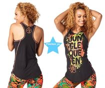 ZUMBA(ズンバ) フィットネストップス H29.4月【ZUMBA】Queen Of The Jungle High Neck Tank Z1T01257