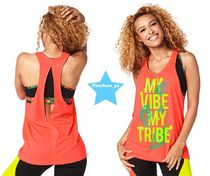 ZUMBA(ズンバ) フィットネストップス H29.4月【ZUMBA】My Vibe My Tribe Loose Tank(Coral)Z1T01237