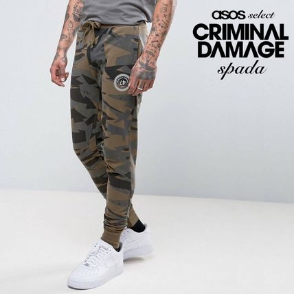 SALE Criminal Damage slim jogging pants camouflage /