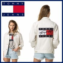 Tommy Hilfiger(トミーヒルフィガー) ジャケット 限定!!【Tommy Jeans】ロゴ フラッグ ジャケット 完売前に♪