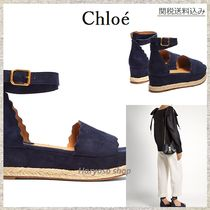 【国内発送】Chloe★Lauren scallop-edged espadrilles