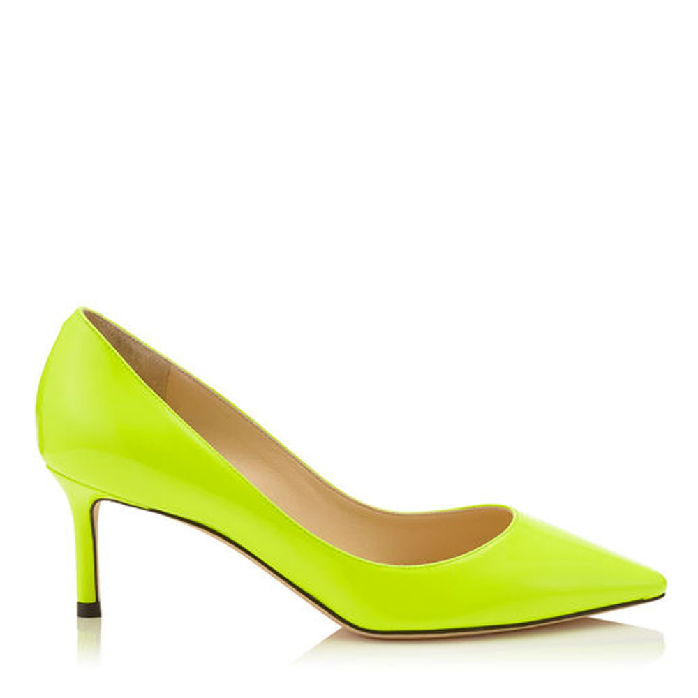 Jimmy Choo☆ROMY 60☆パンプス☆Shocking Yellow