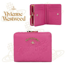 17SS新作★Vivienne Westwood★SALCOMBE 文字入り財布★Pink