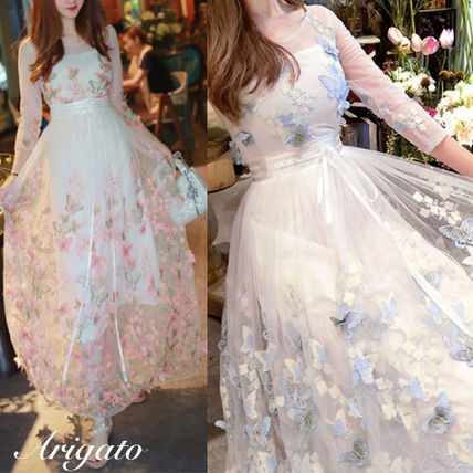 Transparent Butterfly embroidery dress, party dress