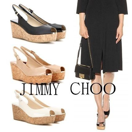 Jimmy Choo-leather wedgsawlsandal / 3 color