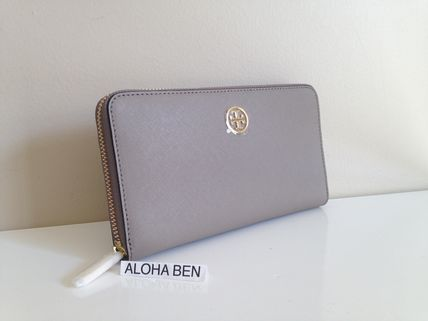 TORY BURCH ROBINSON ZIP CONTINENTAL WALLET  FrenchGray即発送