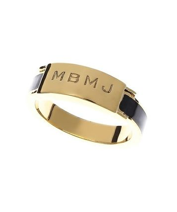 SALE BY logo engraved ring