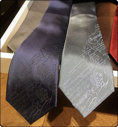Berluti calligraphy patterned tie (other colors with)