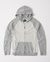 Abercrombie & Fitch Colorblock Full-Zip Hoodie