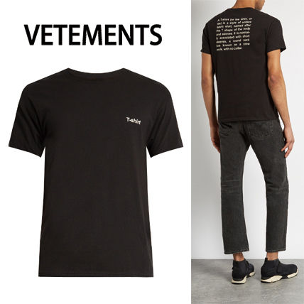 17th SS VETEMENTS×Hanes text printed cotton T shirt