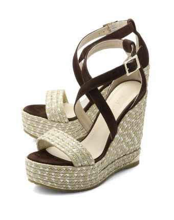 With JIMMY CHOO strap wedge Sandals Brown PORTIA