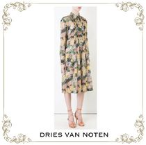 【17SS】大人気★Dries Van Noten★floral shirt dress
