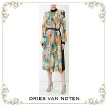 【17SS】大人気★Dries Van Noten★floral sleeve shirt dress