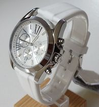 【SALE】MICHAEL KORS  Bradshaw White silicon and stainless