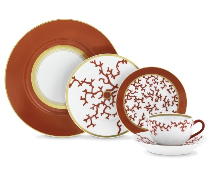 【速達・追跡】Raynaud Cristobal Coral 5-Piece Place Setting