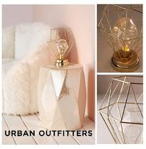 Urban Outfitters☆Serena Geo Caged Table Lamp☆