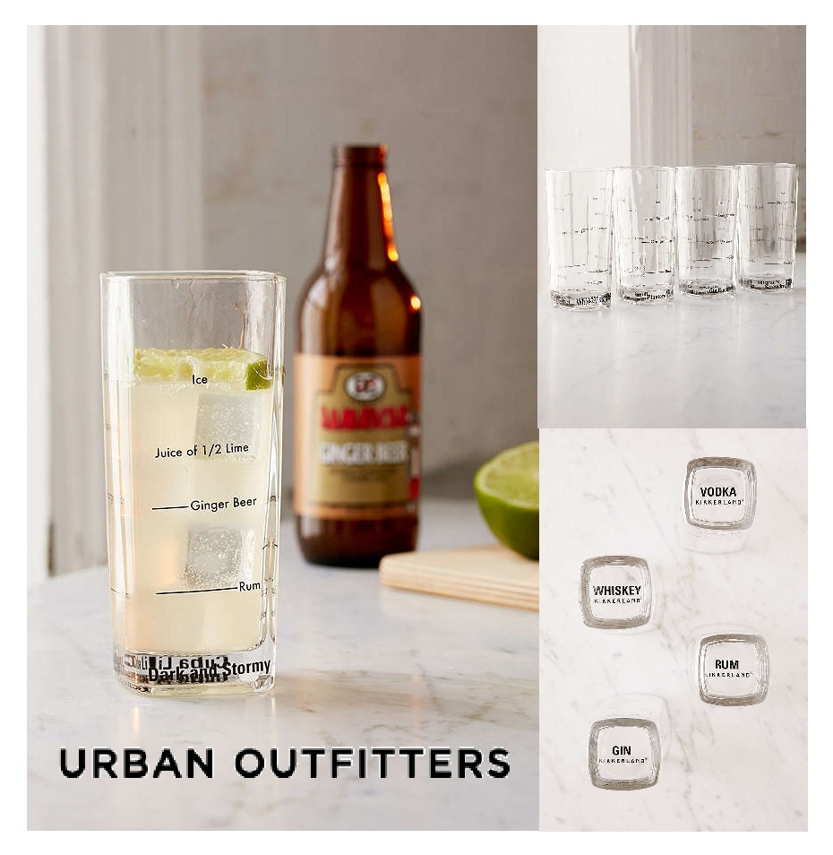 Urban Outfitters☆Tall Bartending Drinking GlassSet☆グラス