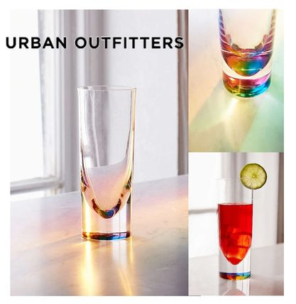 Urban Outfitters☆Rainbow Teardrop Drinking Glass☆グラス