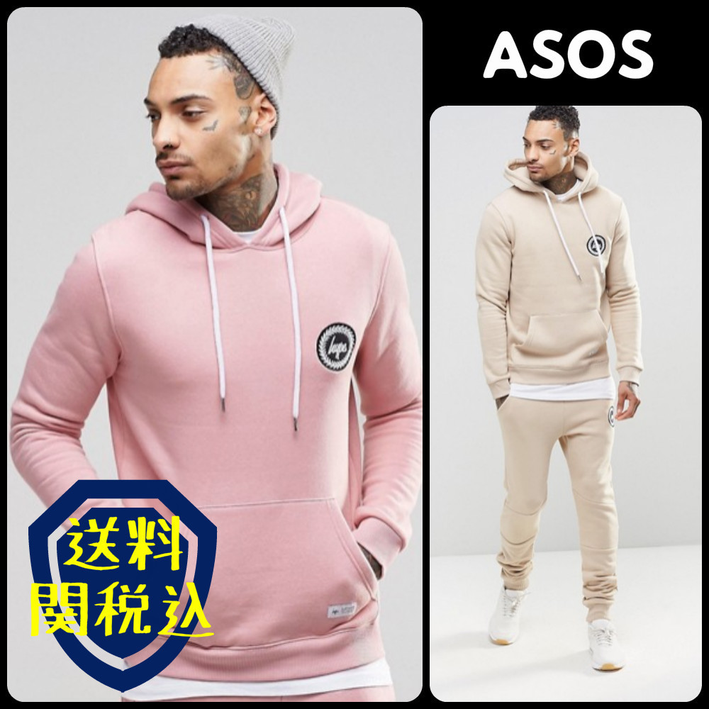 ASOS Hypeプリントセットアップ パーカー&ジョガーズ【2color】