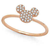ディズニー Mickey Mouse Icon Ring by CRISLU - Rose Gold