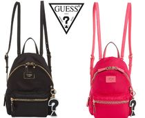 可愛い★GUESS Cool School Small Leeza Backpack★黒 ピンク