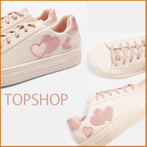 TOPSHOP CANDY ハートヌードレースアップスニーカー