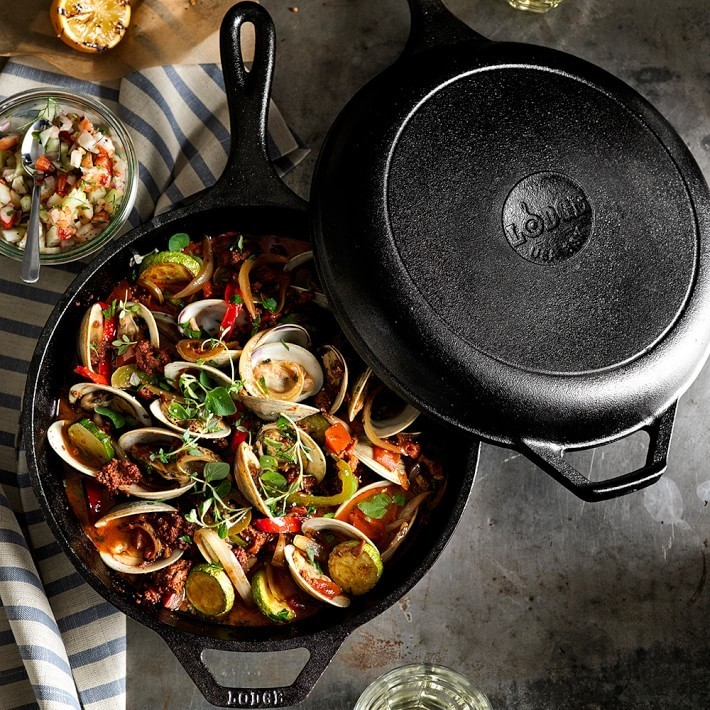 【速達・追跡】Lodge Cast-Iron Round Fry Pan