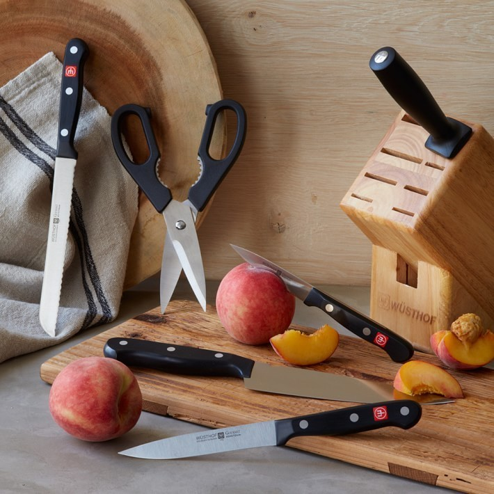 【速達・追跡】Wusthof Gourmet 7-Piece Knife Block Set