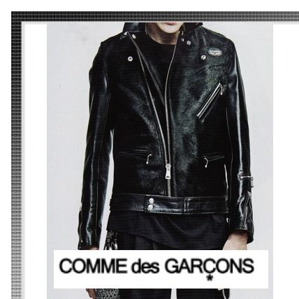 Magazine published 17 SS COMME des GARCONS riders jacket