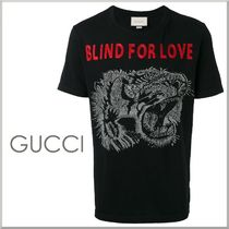 17SS★GUCCI タイガー コットン Tシャツ BLIND FOR LOVE