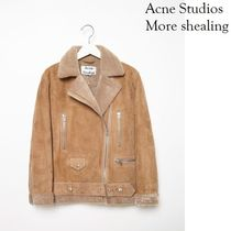 ACNE More Shearling Suede Camel ラムシーリングジャケット