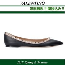 2017SS新作関税込★VALENTINO Rockstud leather ballerinas