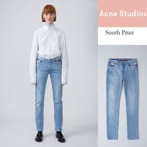 [Acne]South Purple cloud printストレートレッグスリムプリント