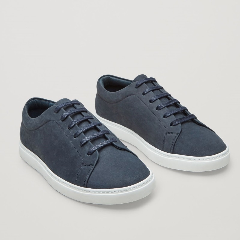 """COS MEN""LACE-UP SNEAKERS BLUE"