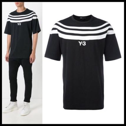 T-shirt Black Shirt striped chest of Wesley, popular y-3
