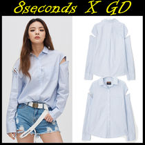 8 SECONDS(エイトセカンズ) ブラウス・シャツ 8 X GD's PICK★8seconds★STRIPE COLD SHOULDER SHIRT